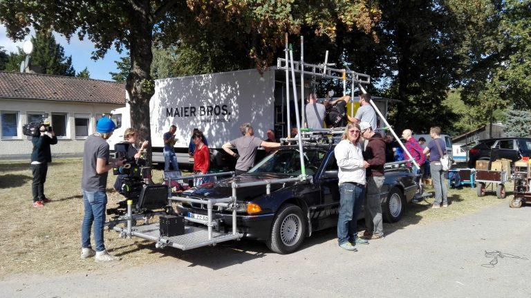 Vorbereitung des Kamerawagens.  Bild: Désirée Wilde/bonnFM