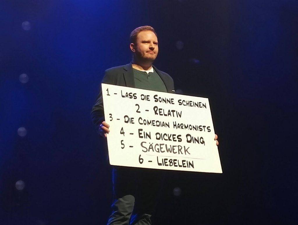 Bild: Pascal Bucksteeg / bonnFM Die Wise Guys sind spontan: Der nächste Song soll zufällig entschieden werden