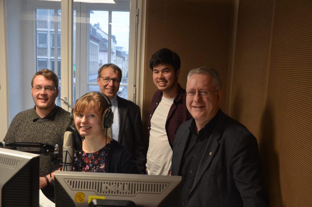 Hoher Besuch: Das Rektorat zu Gast bei bonnFM
